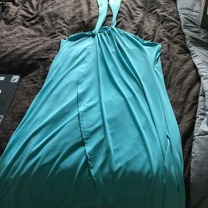 Waterfall halter dress